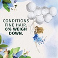 Conditions Fine Hair. 0% Weigh Down