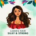 Leaves Hair Silky & Strong